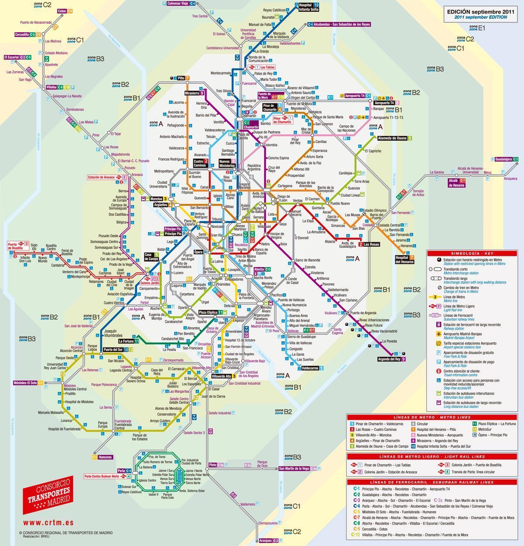 Madrid Karta Metro Karta Madrida Na Tramvae Ispaniya